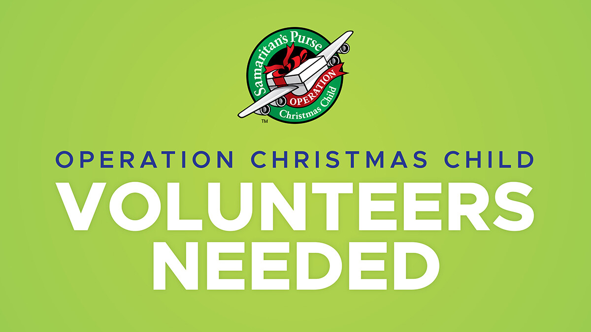Operation Christmas Child: National Collection Week Volunteers